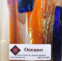 Meyda Tiffany 108476 - Fused Glass Oceano Swatch