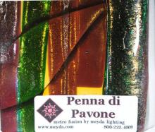 Meyda Tiffany 108477 - Fused Glass Penna Di Pavone Swatch