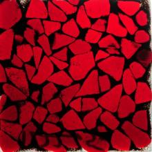 Meyda Tiffany 122265 - Metro Fusion Red/Black Mosaic Swatch