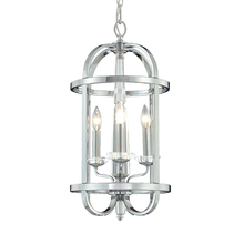 Eurofase Online 20315-016 - Senze 3-Light Lantern, Chrome Finish