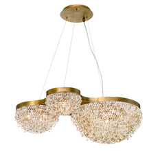 Eurofase Online 31830-010 - Mondo Clustered Crystal Orb Chandelier, Antique Gold Finish, Cognac and Clear Crystals, 10 G9 Light