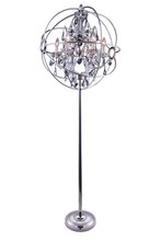 Elegant 1130FL24PN-SS/RC - 1130 Geneva Collection Floor Lamp D:24in H:71.5in Lt:6 Polished nickel Finish (Royal Cut Crystals)