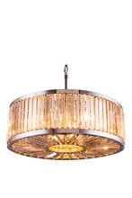 Elegant 1203D35PN-GT/RC - 1203 Chelsea Collection Chandelier D:35.5in H:15.5in Lt:10 Polished nickel Finish (Royal Cut Crystal