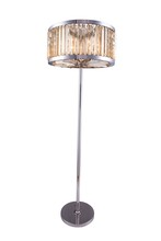 Elegant 1203FL25PN-GT/RC - 1203 Chelsea Collection Floor Lamp D:25in H:72in Lt:6 Polished nickel Finish (Royal Cut Crystals)