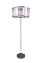 Elegant 1203FL25PN/RC - 1203 Chelsea Collection Floor Lamp D:25in H:72in Lt:6 Polished nickel Finish (Royal Cut Crystals)