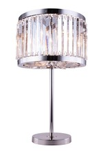 Elegant 1203TL18PN/RC - 1203 Chelsea Collection Table Lamp D:18in H:32in Lt:4 Polished nickel Finish (Royal Cut Crystals)
