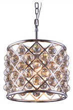 Elegant 1206D14PN-GT/RC - 1206 Madison Collection Pendant D:14in H:13in Lt:4 Polished nickel Finish (Royal Cut Crystals)