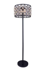Elegant 1206FL20MB-GT/RC - 1206 Madison Collection Floor Lamp D:20in H:72in Lt:4 Matte Black Finish (Royal Cut Crystals)