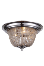 Elegant 1210F18PW - 1210 Paloma Collection Flush Mount D:18in H:9in Lt:3 Pewter Finish