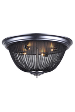 Elegant 1210F24DG - 1210 Paloma Collection Flush Mount D:24in H:11.5in Lt:4 Dark Grey Finish