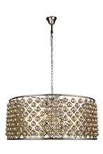Elegant 1214G43PN-GT/RC - 1214 Madison Collection Chandelier D:43.5in H:18.25in Lt:10 Polished Nickel Finish (Royal Cut Crysta