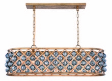Elegant 1216G40GI-SS/RC - 1216 Madison Colloection Chandelier L:40 in W:13in H:15in Lt:6 Golden Iron Finish (Royal Cut Crystal