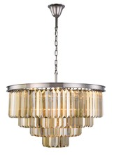 Elegant 1231D32PN-GT/RC - 1231 Sydney Collection Chandelier D:32in H:23.5in Lt:17 Polished nickel Finish (Royal Cut Crystals)