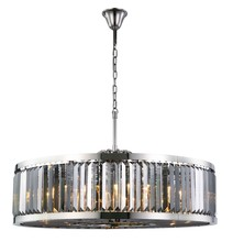 Elegant 1233G43PN-SS/RC - 1233 Chelsea Collection Chandelier D:43.5in H:15.5in Lt:10 Polished nickel Finish (Royal Cut Crystal