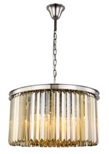 Elegant 1238D26PN-GT/RC - 1238 Sydney Collection Chandelier D:26in H:13.5in Lt:8 Polished nickel Finish (Royal Cut Crystals)