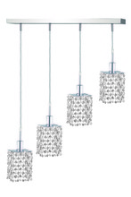 Elegant 1284D-O-S-CL/RC - 1284 Mini Colloection Pendant L:5 in W:26in H:8in Lt:4 Chrome Finish (Royal Cut Crystals)