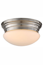 Elegant 1475F14PN - 1475 Daisy Collection Flush mount D:14.5in H:7.5in Lt:3 Polished Nickel Finish