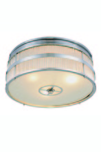 Elegant 1481F13PN - 1481 Anjelica Collection Flush Mount D:12.5in H:7.5in Lt:3 Polished Nickel Finish