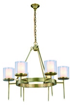 Elegant 1504D35BB - 1504 Bradford Collection Chandelier D:35in H:32in Lt:6 Burnished Brass Finish