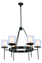 Elegant 1504D35BZ - 1504 Bradford Collection Chandelier D:35in H:32in Lt:6 Bronze Finish