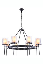 Elegant 1504G45BZ - 1504 Bradford Collection Chandelier D:45in H:35in Lt:8 Bronze Finish