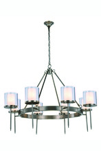 Elegant 1504G45VN - 1504 Bradford Collection Chandelier D:45in H:35in Lt:8 Vintage Nickel Finish