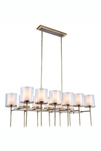 Elegant 1504G47BB - 1504 Bradford Collection Chandelier L:47in W:23in H:58in Lt:12 Burnished Brass Finish
