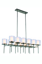 Elegant 1504G47VN - 1504 Bradford Collection Chandelier L:47in W:23in H:58in Lt:12 Vintage Nickel Finish