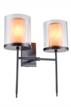 Elegant 1504W16BZ - 1504 Bradford Collection Wall Sconce D:16in H:17in E:9in Lt:2 Bronze Finish