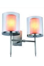 Elegant 1504W16VN - 1504 Bradford Collection Wall Sconce D:16in H:17in E:9in Lt:2 Vintage Nickel Finish