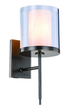Elegant 1504W6BZ - 1504 Bradford  Collection Wall Sconce D:6in H:17in E:9in Lt:1 Bronze Finish