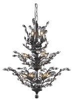 Elegant 2011D27DB/SA - 2011 Orchid Collection Chandelier D:27in H:27in Lt:13 Dark Bronze Finish (Spectra� Swarovski� Crysta