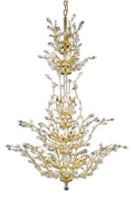 Elegant 2011G54G/SA - 2011 Orchid Collection Chandelier D:41in H:54in Lt:25 Gold Finish (Spectra� Swarovski� Crystals)