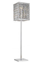 Elegant 2032FL65C/SA - 2032 Maxime Collection Floor Lamp L15in W15in H65in Lt:4 Chrome Finish (Swarovski Spectra Crystals)
