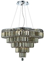 Elegant 2036D26C-GT/RC - 2036 Maxime Collection Chandelier D:26in H:20in Lt:14 Chrome Finish (Royal Cut Crystals)