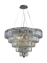 Elegant 2036D30C/SS - 2036 Maxime Collection Chandelier D:30in H:22in Lt:17 Chrome Finish (Swarovski� Elements Crystals)