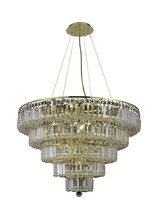 Elegant 2036D30G/SS - 2036 Maxime Collection Chandelier D:30in H:22in Lt:17 Gold Finish (Swarovski� Elements Crystals)