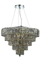Elegant 2037D30C-GT/SS - 2037 Maxime Collection Chandelier D:30in H:22in Lt:17 Chrome Finish (Swarovski� Elements Crystals)