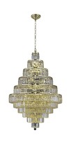 Elegant 2038D32G/SS - 2038 Maxime Collection Chandelier D:32in H:48in Lt:30 Gold Finish (Swarovski� Elements Crystals)