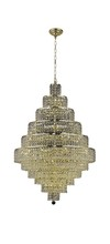 Elegant 2039D32G/SS - 2039 Maxime Collection Chandelier D:32in H:48in Lt:30 Gold Finish (Swarovski� Elements Crystals)