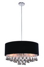 Elegant 2105D24C/RC - 2105 Metro Collection Pendant D:24in H:14.5in Lt:6 Chrome Finish (Royal Cut Crystals)
