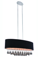 Elegant 2105G36C/RC - 2105 Metro Colloection Pendant L:36 in W:15.7in H:15in Lt:6 Chrome Finish (Royal Cut Crystals)