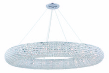 Elegant 2114G71C/RC - 2114 Paris Collection Chandelier D:71in H:7in Lt:30 Chrome Finish (Royal Cut Crystals)