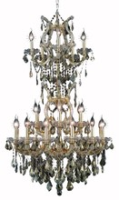 Elegant 2800D30SG-GT/SS - 2800 Maria Theresa Collection Chandelier D:30in H:50in Lt:25 Gold Finish (Swarovski� Elements Crysta