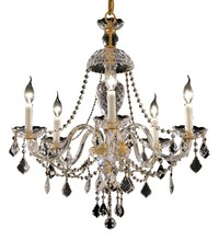 Elegant 7831D25G/SS - 7831 Alexandria Collection Chandelier D:25in H:28in Lt:5 Gold Finish (Swarovski® Elements Crystals)