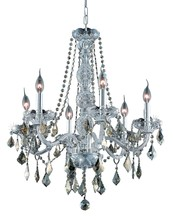 Elegant 7856D24C-GT/SS - 7856 Verona Collection Chandelier D:24in H:28in Lt:6 Chrome Finish (Swarovski� Elements Crystals)