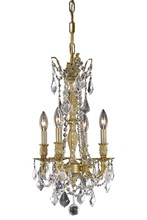 Elegant 9204D10FG/SS - 9204 Rosalia Collection Pendant D:10in H:18in Lt:4 French Gold Finish (Swarovski� Elements Crystals)
