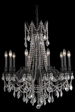 Elegant 9210D28DB/EC - 9210 Rosalia Collection Chandelier D:28in H:31in Lt:10 Dark Bronze Finish (Elegant Cut Crystals)