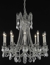 Elegant 9210D28PW/RC - 9210 Rosalia Collection Chandelier D:28in H:31in Lt:10 Pewter Finish (Royal Cut Crystals)
