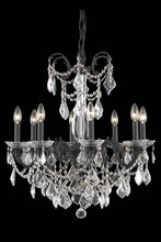 Elegant 9708D24DB/SA - 9708 Athena Collection Chandelier D:24in H:30in Lt:8 Dark Bronze Finish (Spectra� Swarovski� Crystal